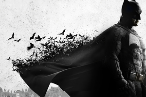 Batman Cape Bats Wallpaper