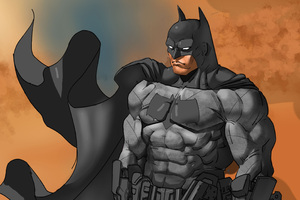 Batman Cape Flying Wallpaper
