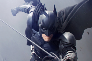 Batman Christian Bale Art Wallpaper