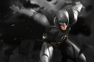 Batman Christian Bale Artwork Wallpaper