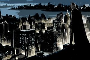 Batman Cityscape 4k