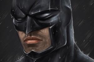 Batman Closeup Art