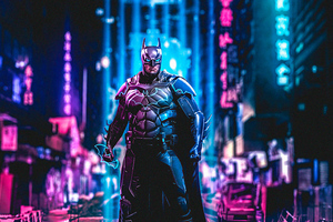 Batman Cyberpunk Art 4k Wallpaper