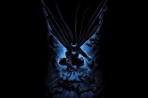 Batman Dark Comic Art 4k
