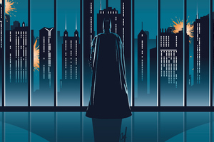 Batman Dark Knight Minimal 4k