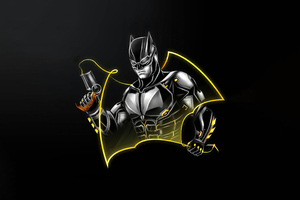 Batman Dark Minimal 5k Wallpaper