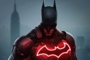 Batman Dark Red 4k 2020 Wallpaper