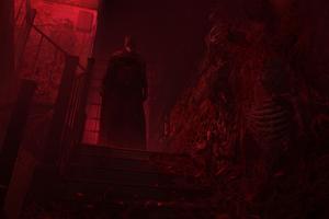 Batman Darkest Night Stairway 4k Wallpaper