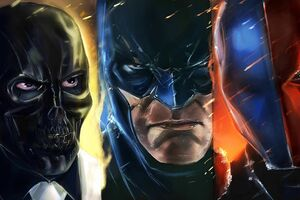Batman Deathstroke And Villain Wallpaper