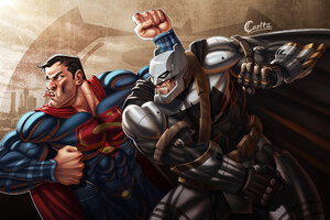 Batman Defeating Superman