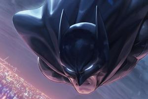 Batman Face Closeup