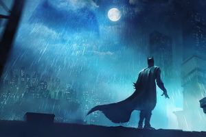 Batman Fighting Crime 4k