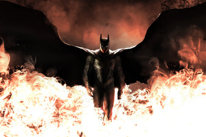 Batman Fire Wallpaper