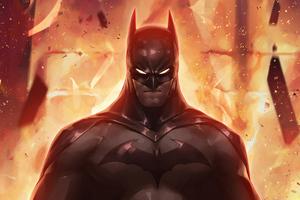 Batman Fire 4k