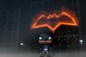 Batman Funko Pop Art 5k Wallpaper