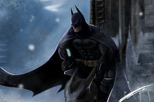 Batman Gargoyle Pose 4K