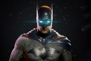 Batman Glowing Eyes Darkness 4k Wallpaper