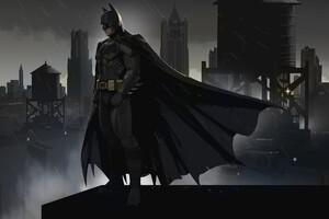 Batman Gotham Art Wallpaper