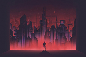 Batman Gotham Neon Wallpaper