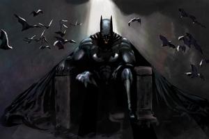 Batman Gothic Contemplation Wallpaper