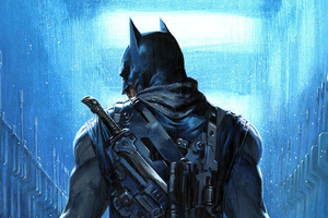 Batman Guns Artwork Wallpaper