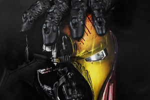 Batman Hands Over Iron Man Mask 4k Wallpaper