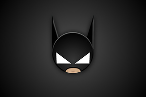 Batman Head Minimal 4k
