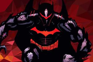 Batman Hellbat Polygon Art