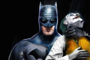 Batman Holding Joker Neck Wallpaper