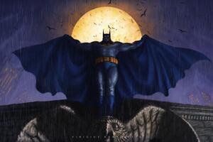 Batman Illustration 4k 2018 Wallpaper