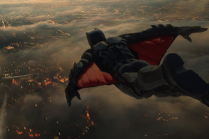 Batman In Sky Plane