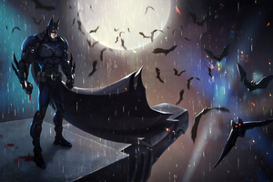 Batman In The Night Art