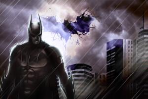 Batman In The Rain 4k