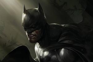 Batman Injured Art Wallpaper