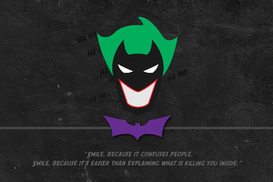 Batman Joker Minimal Typography Wallpaper