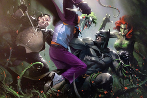Batman Joker Pinguino Ivy Wallpaper
