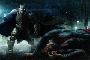 Batman Kills Superman Wallpaper