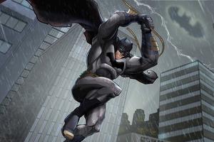 Batman Knight Rainy Day 5k Wallpaper