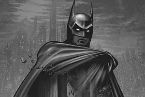 Batman Life Monochrome 4k Wallpaper