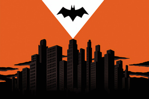 Batman Logo Gotham City Wallpaper