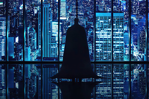 Batman Looking City Wallpaper