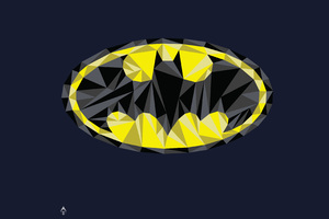 Batman Low Poly Logo