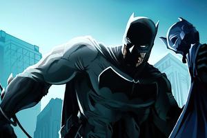 Batman Mask Off Artwork Wallpaper