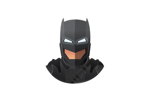 Batman Mech Suit Mask Minimalism 5k