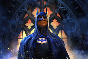 Batman Michael Keaton Art Wallpaper