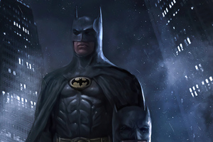 Batman Michael Keaton Artwork