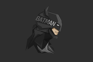 Batman Minimal Facet 8k