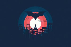 Batman Minimal Illustration 5k Wallpaper