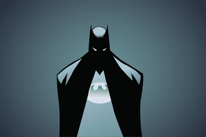 Batman Minimalism Illustrator 5k