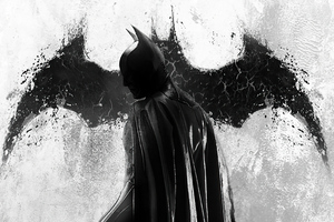Batman Monochrome 2020 4k Wallpaper